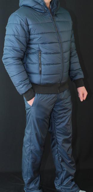 Спортивный костюм мужской зимний темно-синий