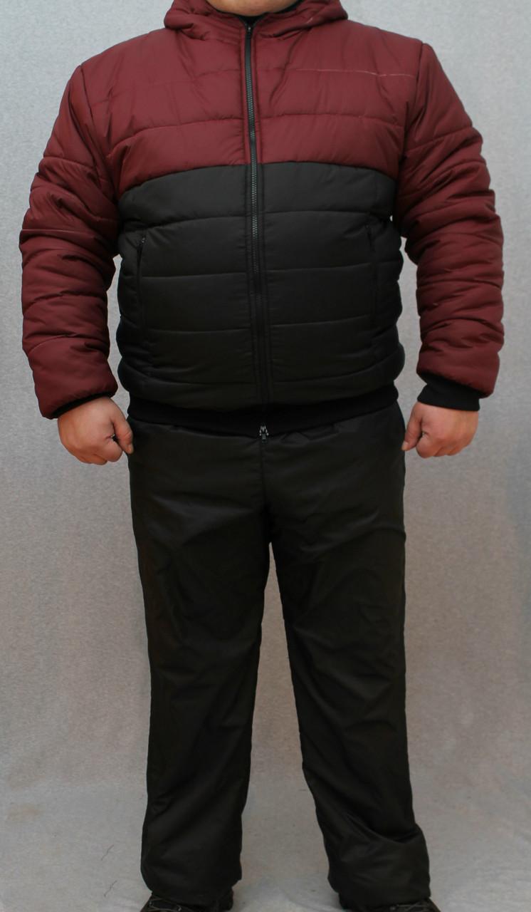 Мужской костюм зимний с латками