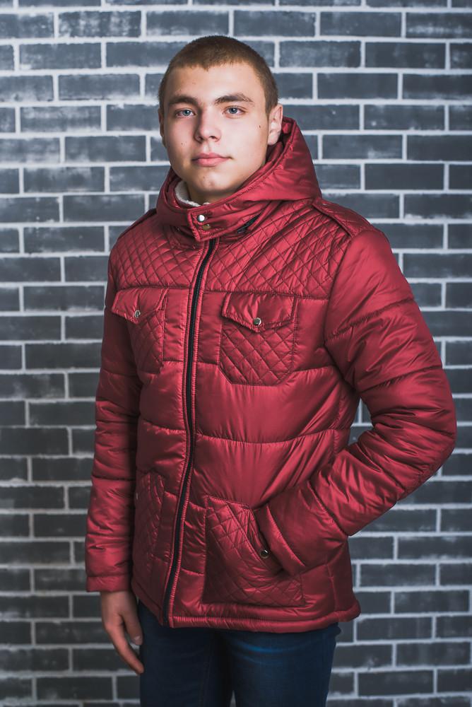Мужская куртка зимняя бордо
