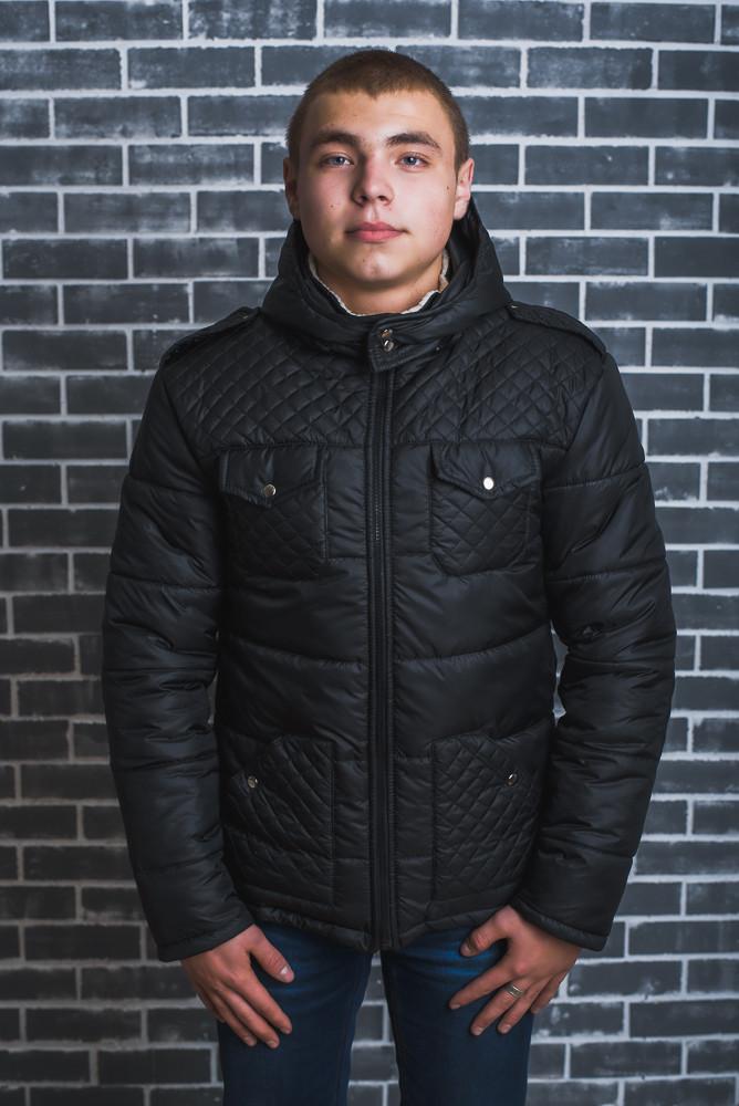 Мужская куртка зимняя черная